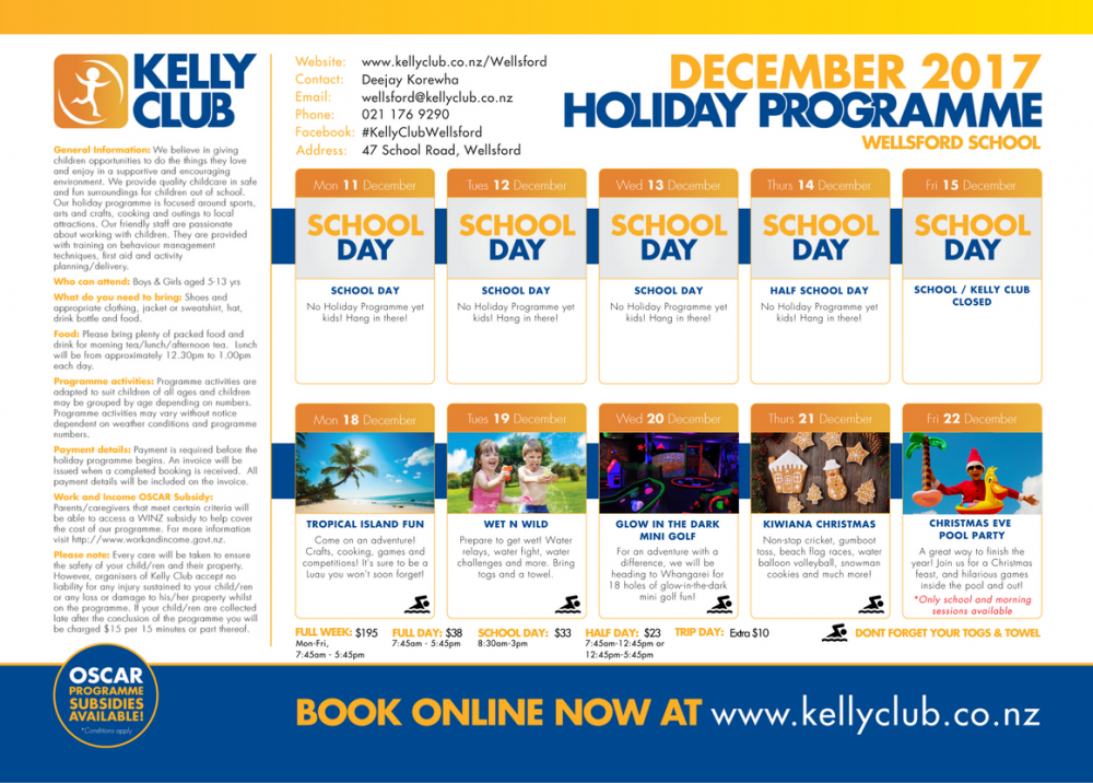 January School Holiday Programme